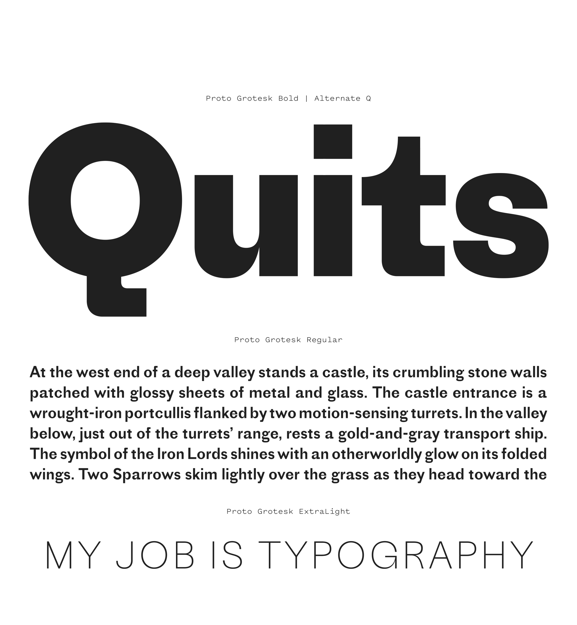 Proto Grotesk Font Review Journal