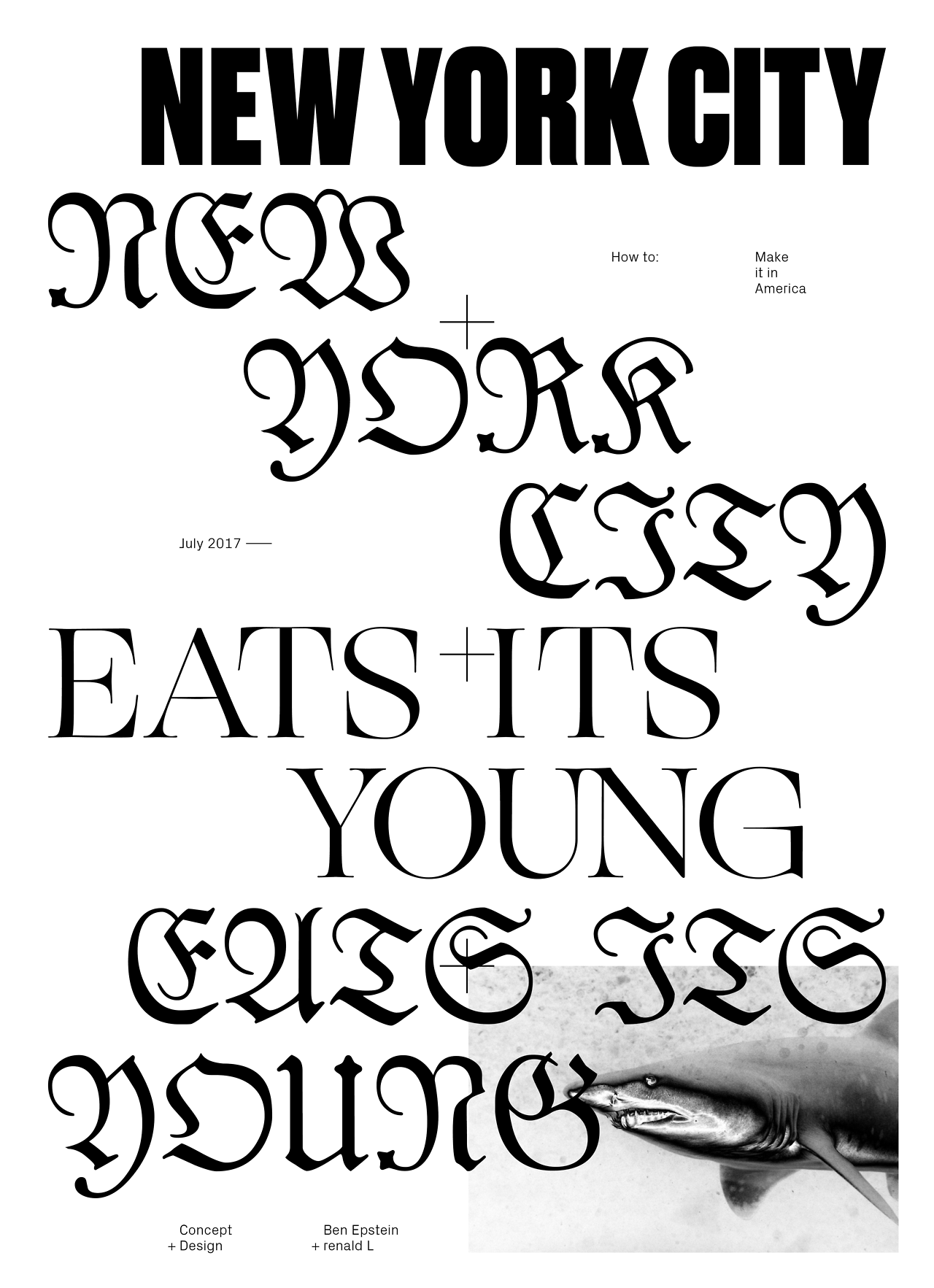Renaldl Ogg Used In A Poster Combined With Blackletter Typeface Designed