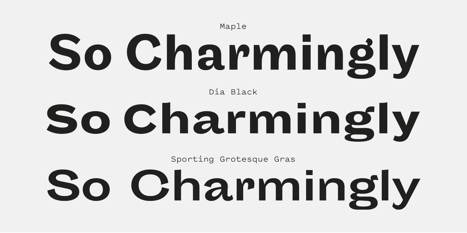 Sporting Grotesque Font Review Journal