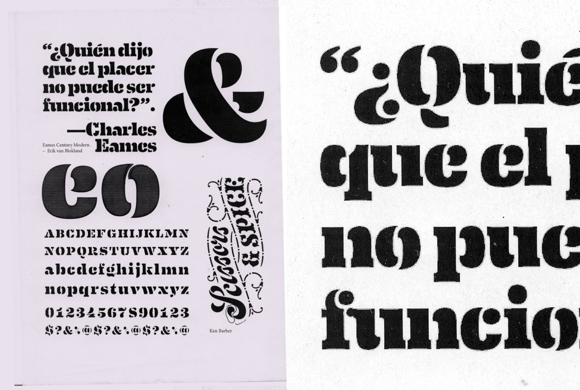 1e70d33b66 26plus-zeichen.de — Studies of Eames Century Modern s Stencil weight by  Jakob Runge